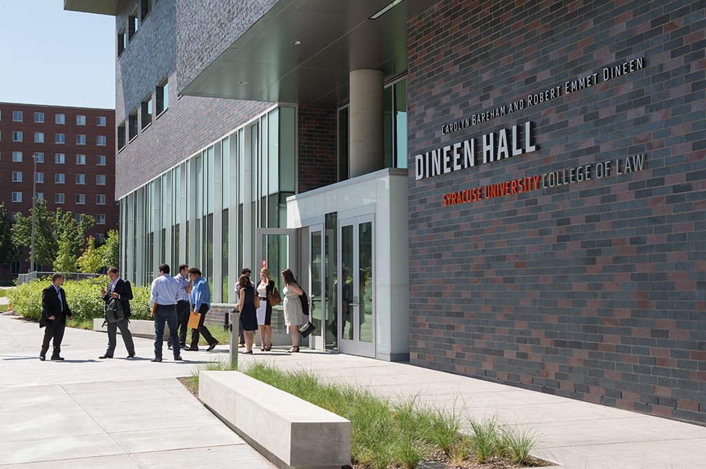 COL College of Law Dineen Hall Nearly Finished Interior & Exterior